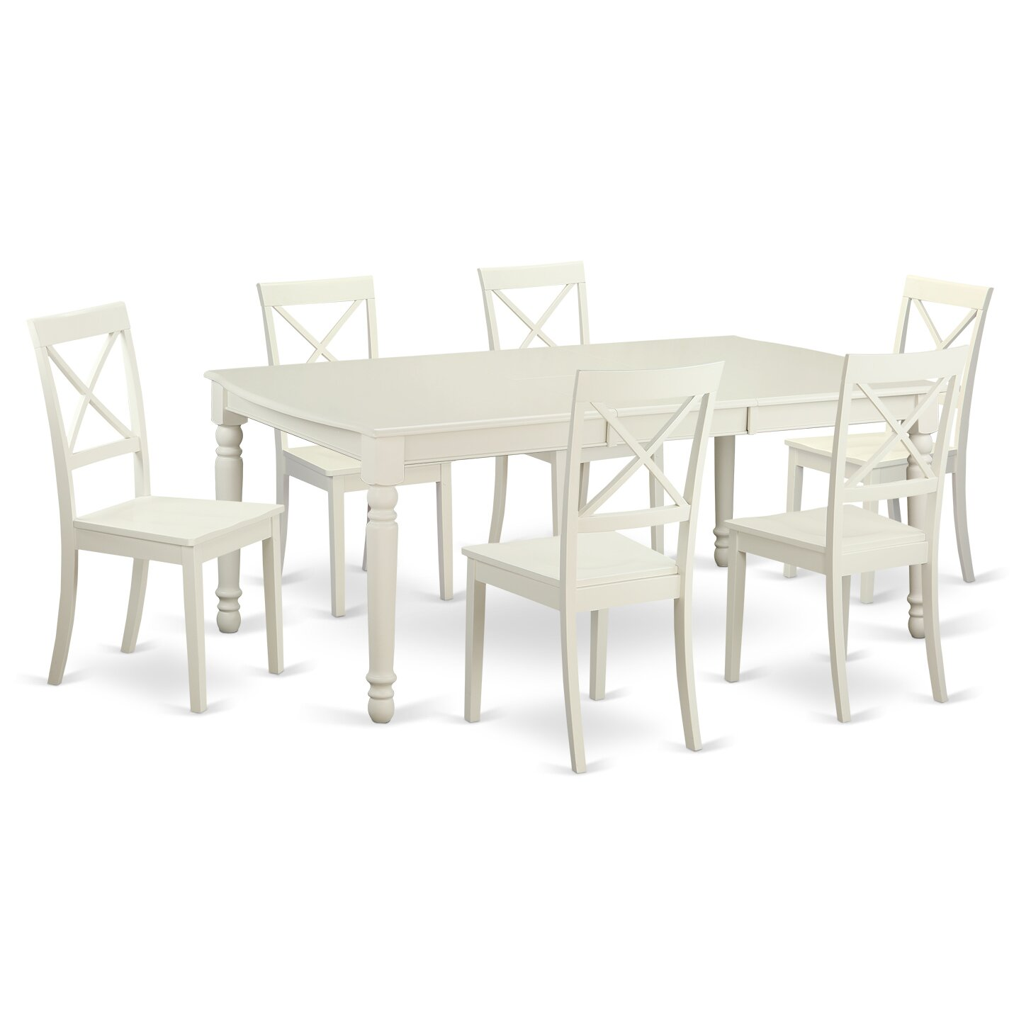 East west dover 7 piece dining set reviews wayfair for Furniture 7 credit reviews