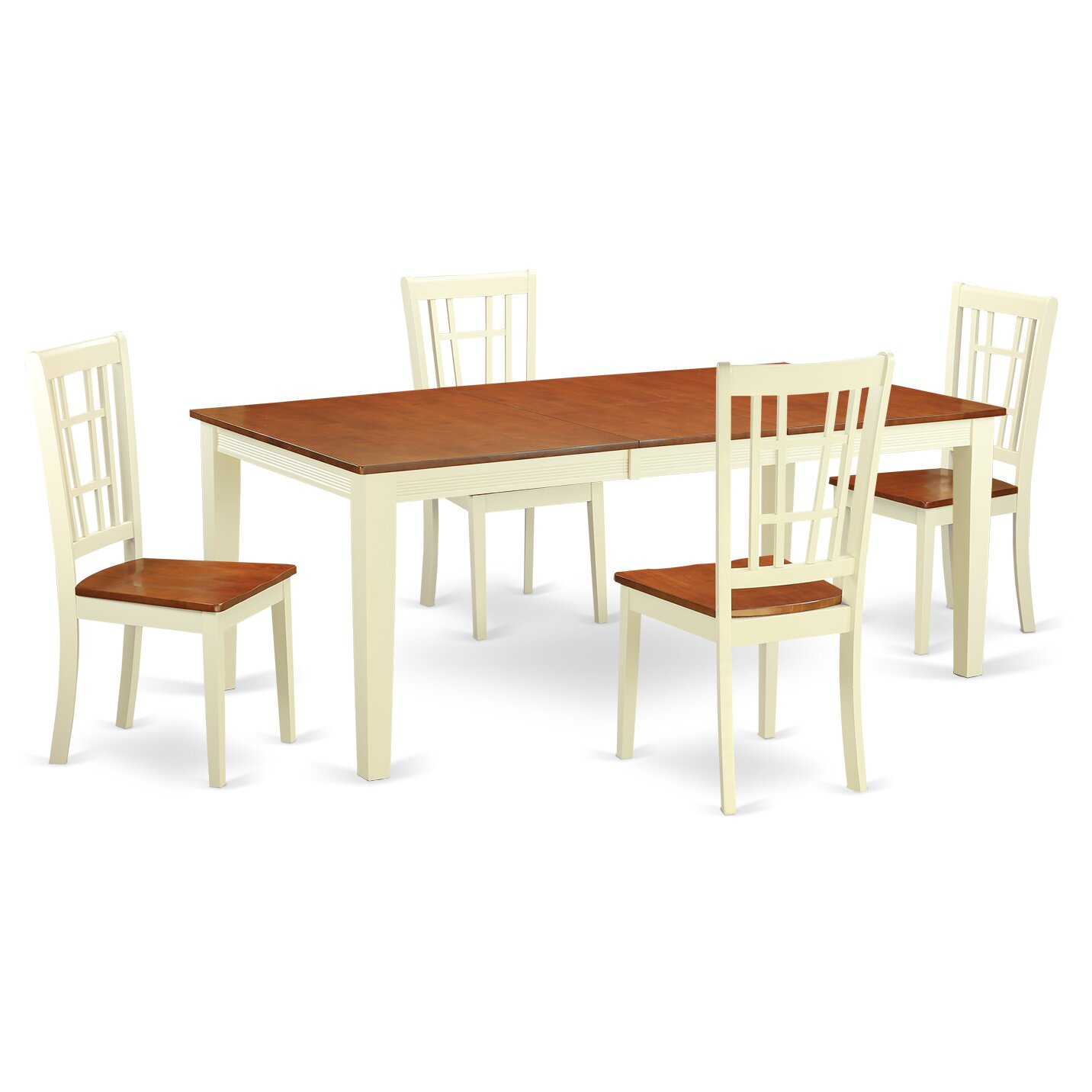 East west quincy 5 piece dining set wayfair for Small dining table and bench set