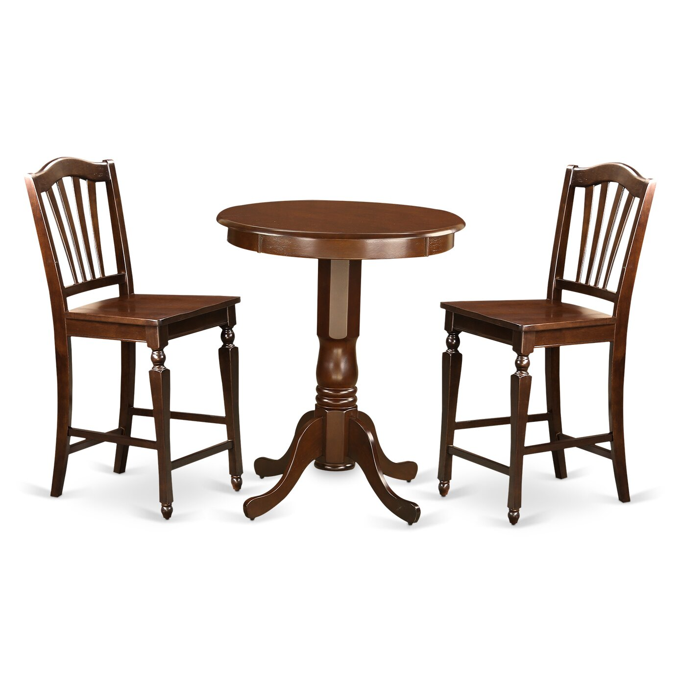 East West Eden 3 Piece Counter Height Pub Table Set Wayfair