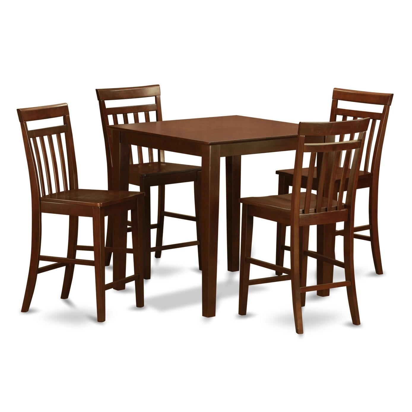 Counter Height Dining Room Table Sets East West Vernon 5 Piece Counter Height Pub Table Set