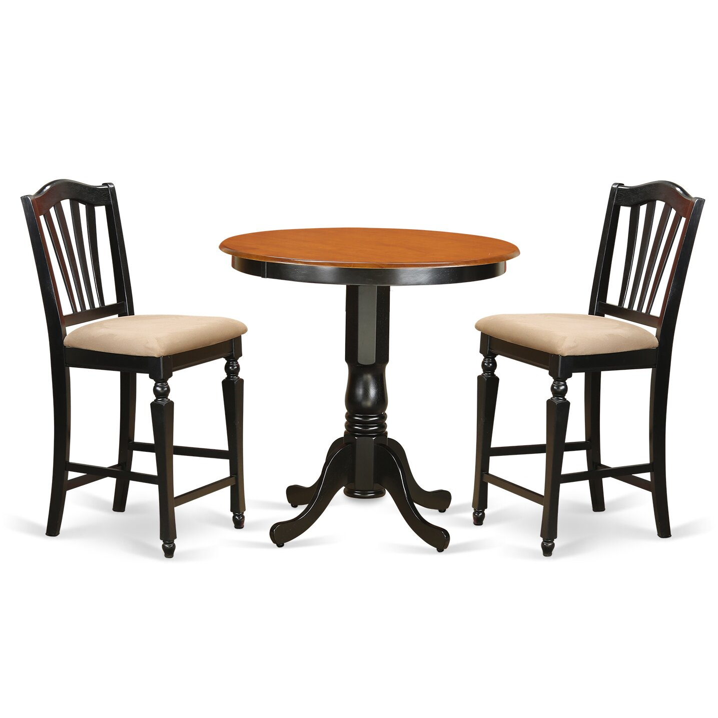 East west jackson 3 piece counter height pub table set for High chair dining set