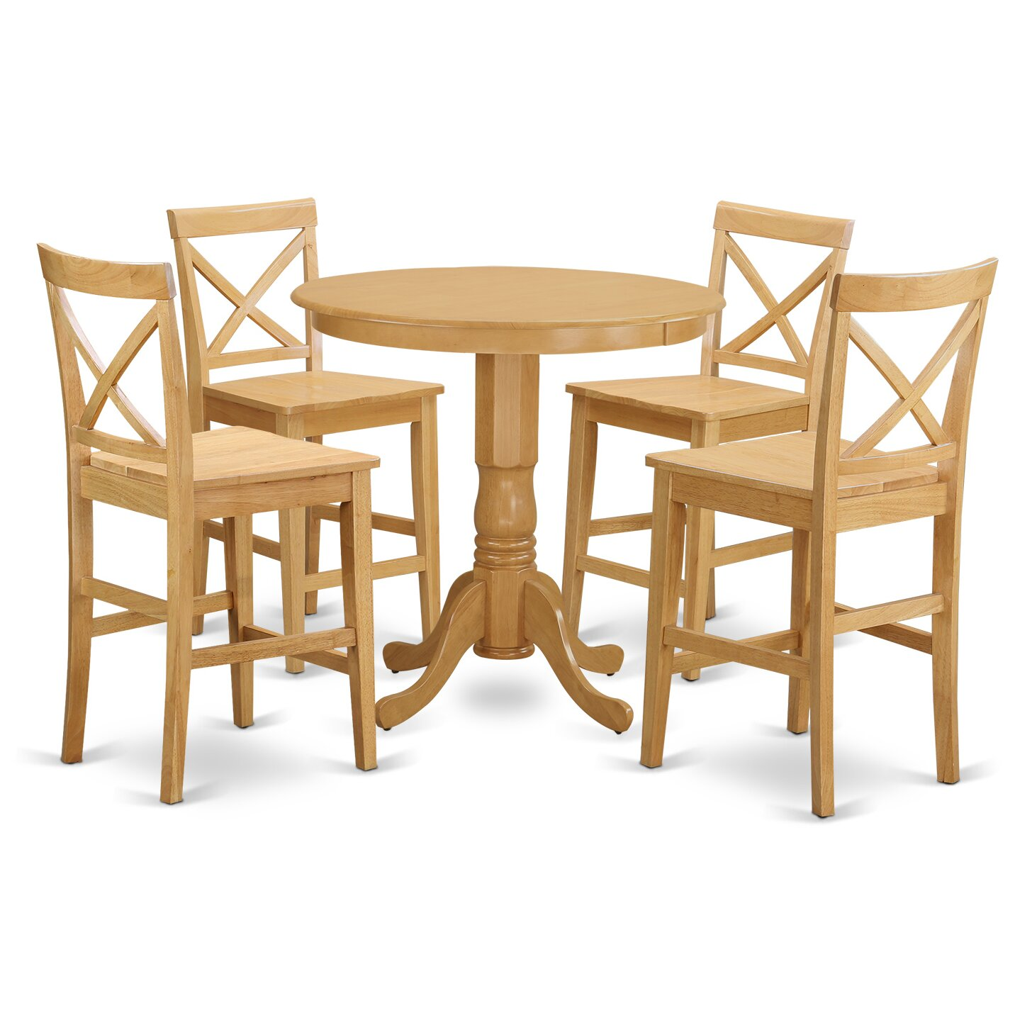 East west jackson 5 piece counter height pub table set - Bar height pub table and chairs ...