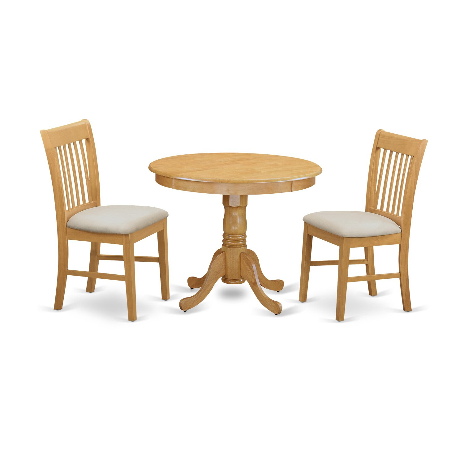 East west 3 piece dining set for 3 piece dining room