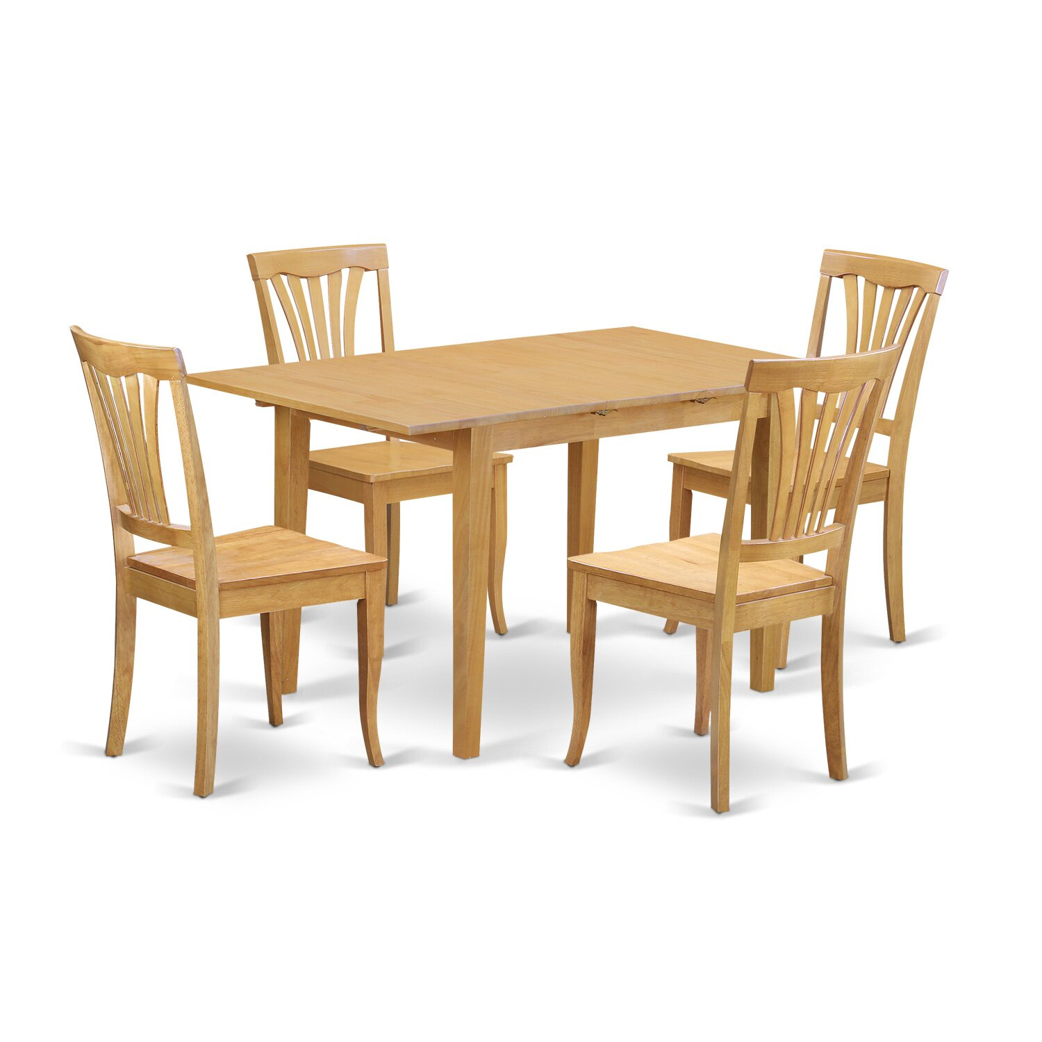 East west norfolk 5 piece dining set wayfair for Dinette furniture