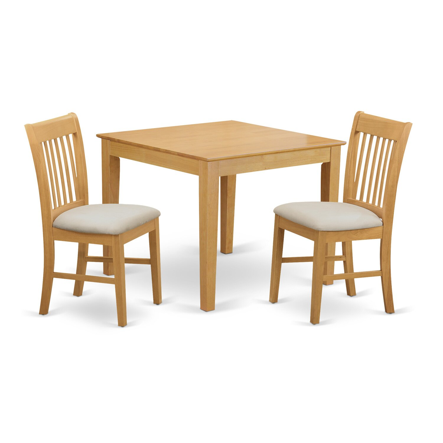 East west oxford 3 piece dining set reviews wayfair for Dining room table for 2
