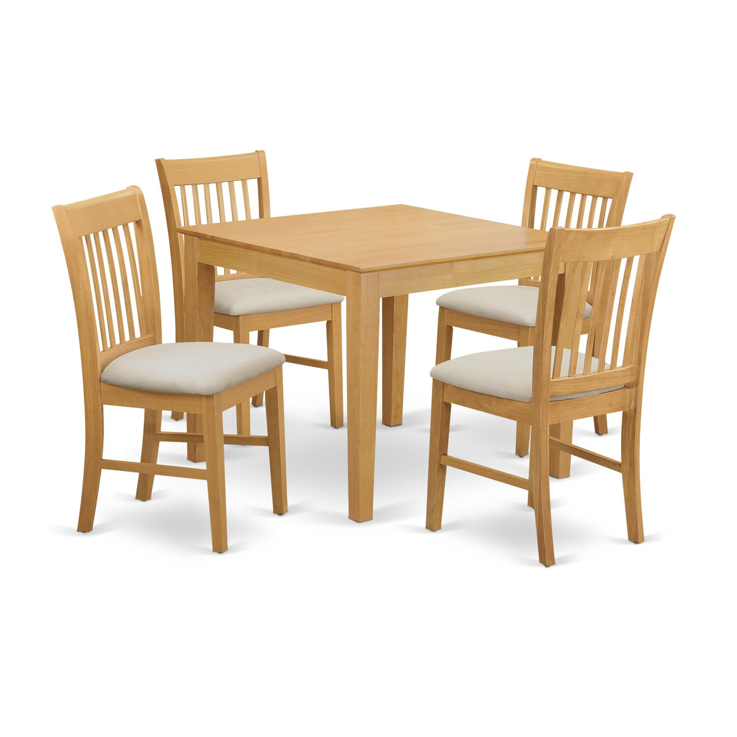 east west furniture oxford 4 piece dining set