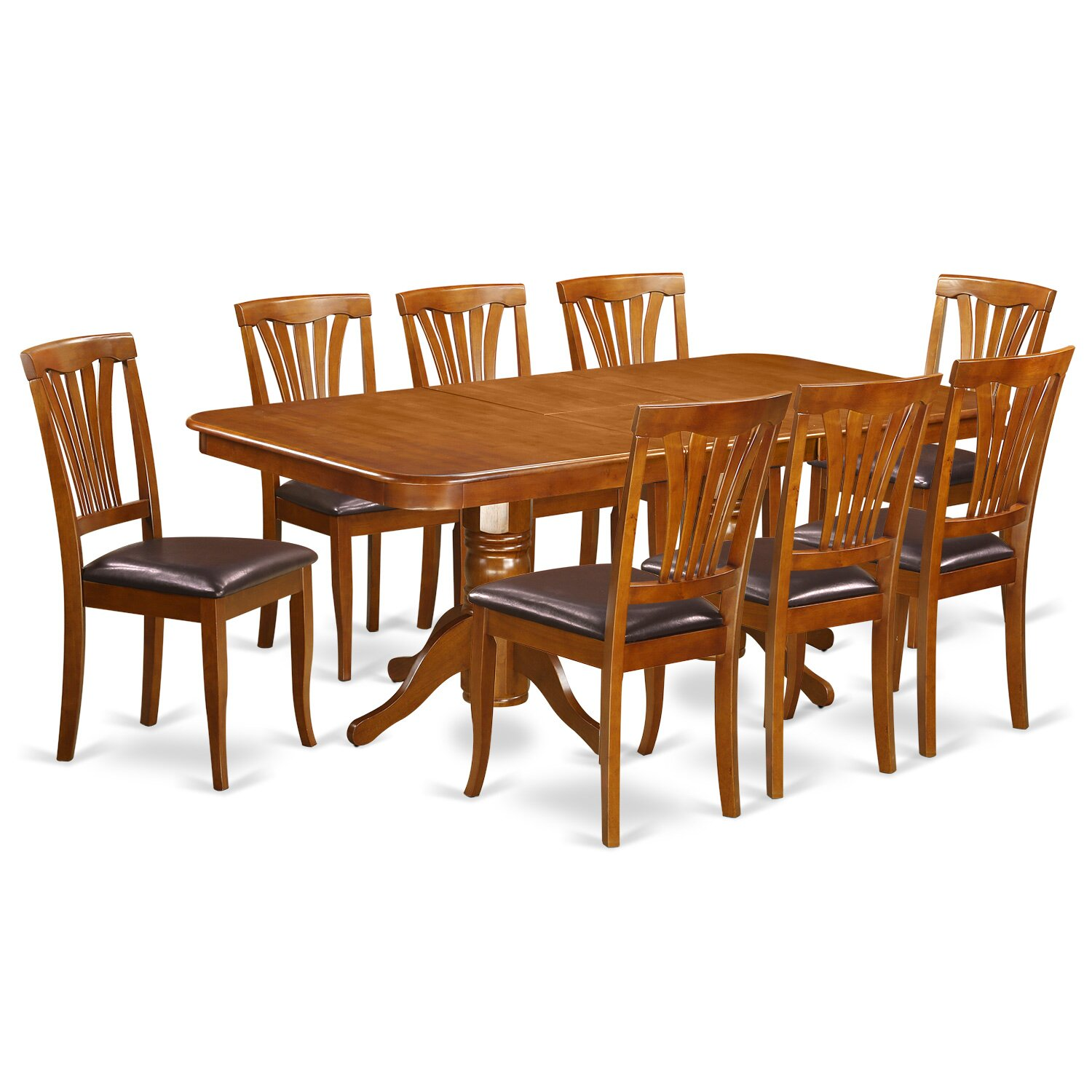 East west napoleon 9 piece dining set reviews wayfair for Dining room tables 9 piece
