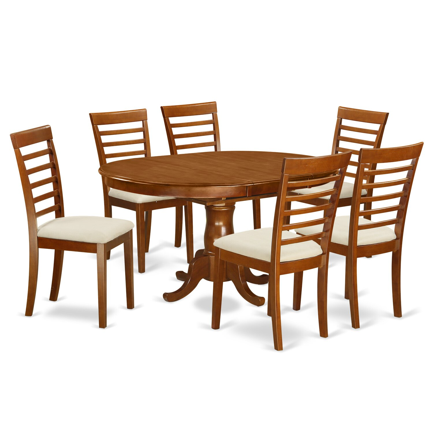 East west portland 7 piece dining set reviews wayfair for Furniture 7 reviews