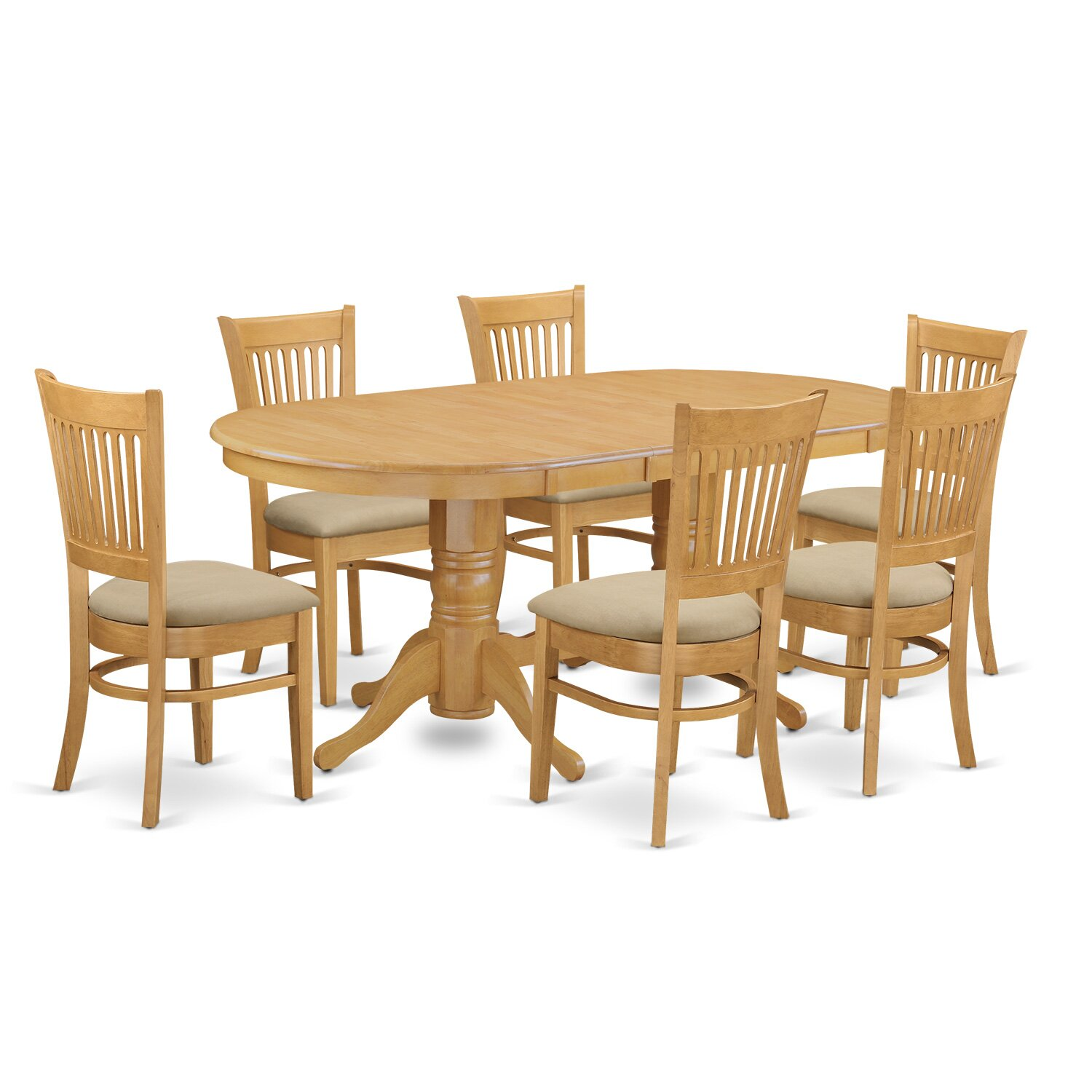 Darby home co rockdale 7 piece dining set reviews wayfair for 7 piece dining set