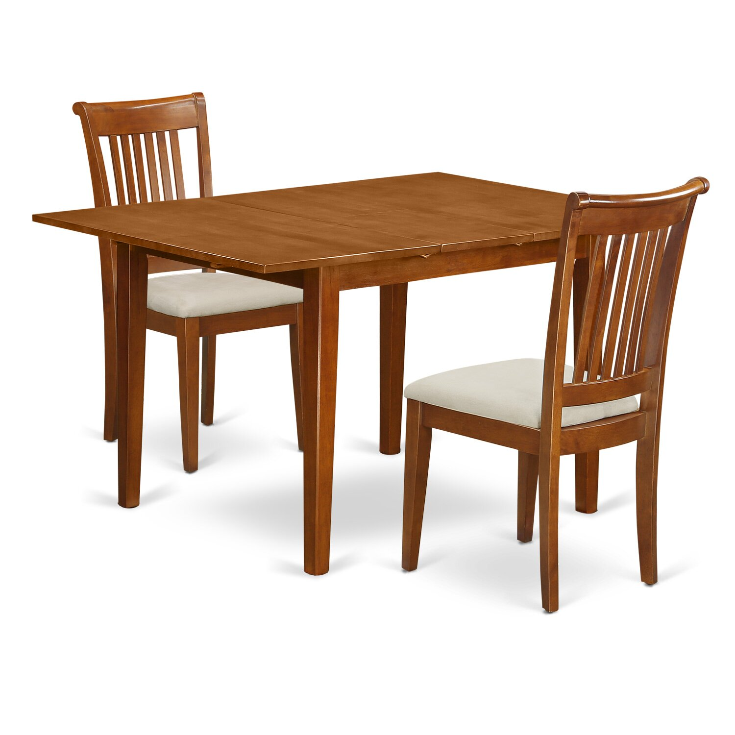 East West Milan 3 Piece Dining Set Wayfair