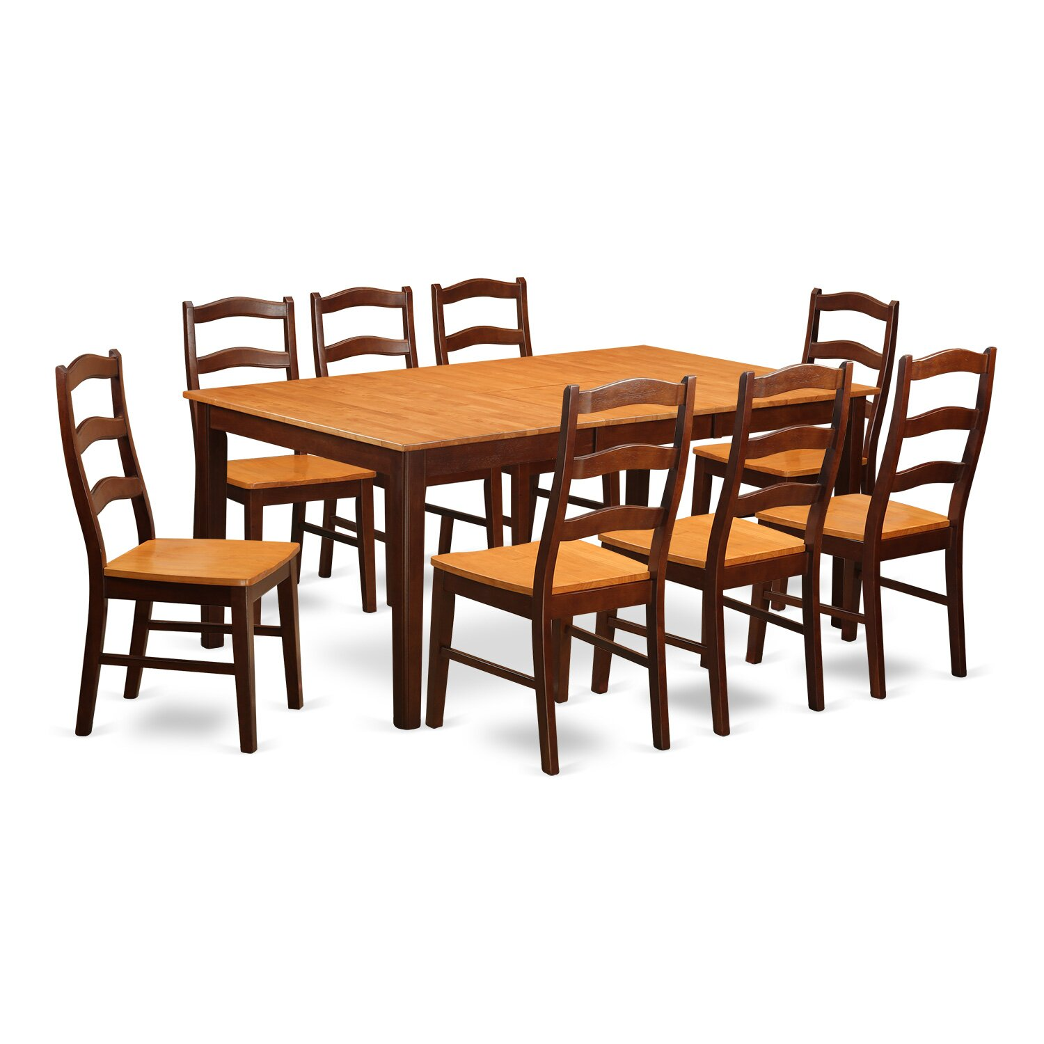 East west henley 9 piece dining set reviews for Dining room furniture 9 piece