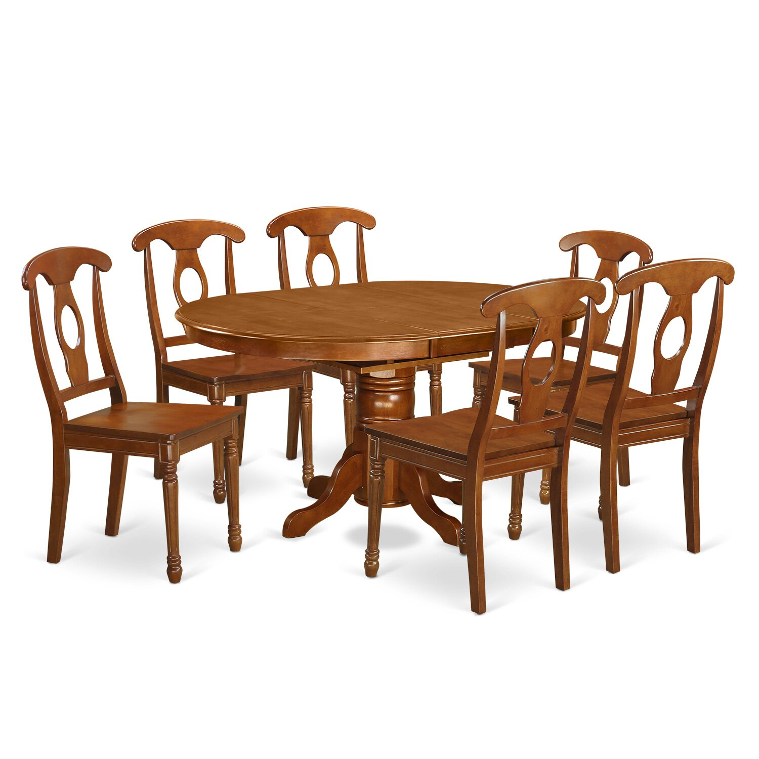 #783F1B Best Kitchen U0026 Dining Furniture 7 Piece Kitchen U0026 Dining Room Sets  Logan Dining