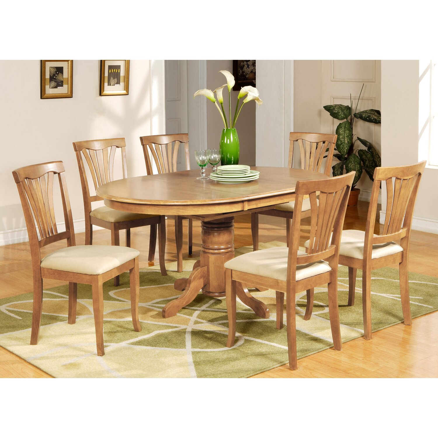 Wooden importers avon 7 piece dining set reviews wayfair for Furniture 7 reviews