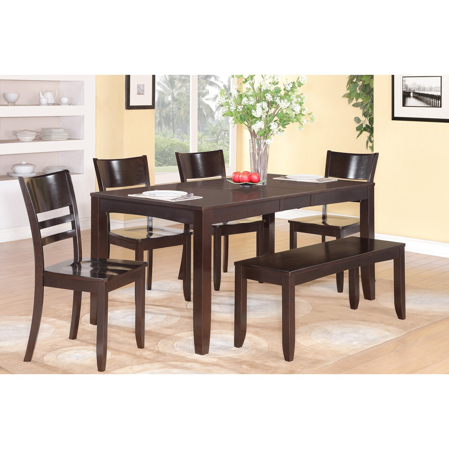 Wooden Importers Lynfield 6 Piece Dining Set & Reviews