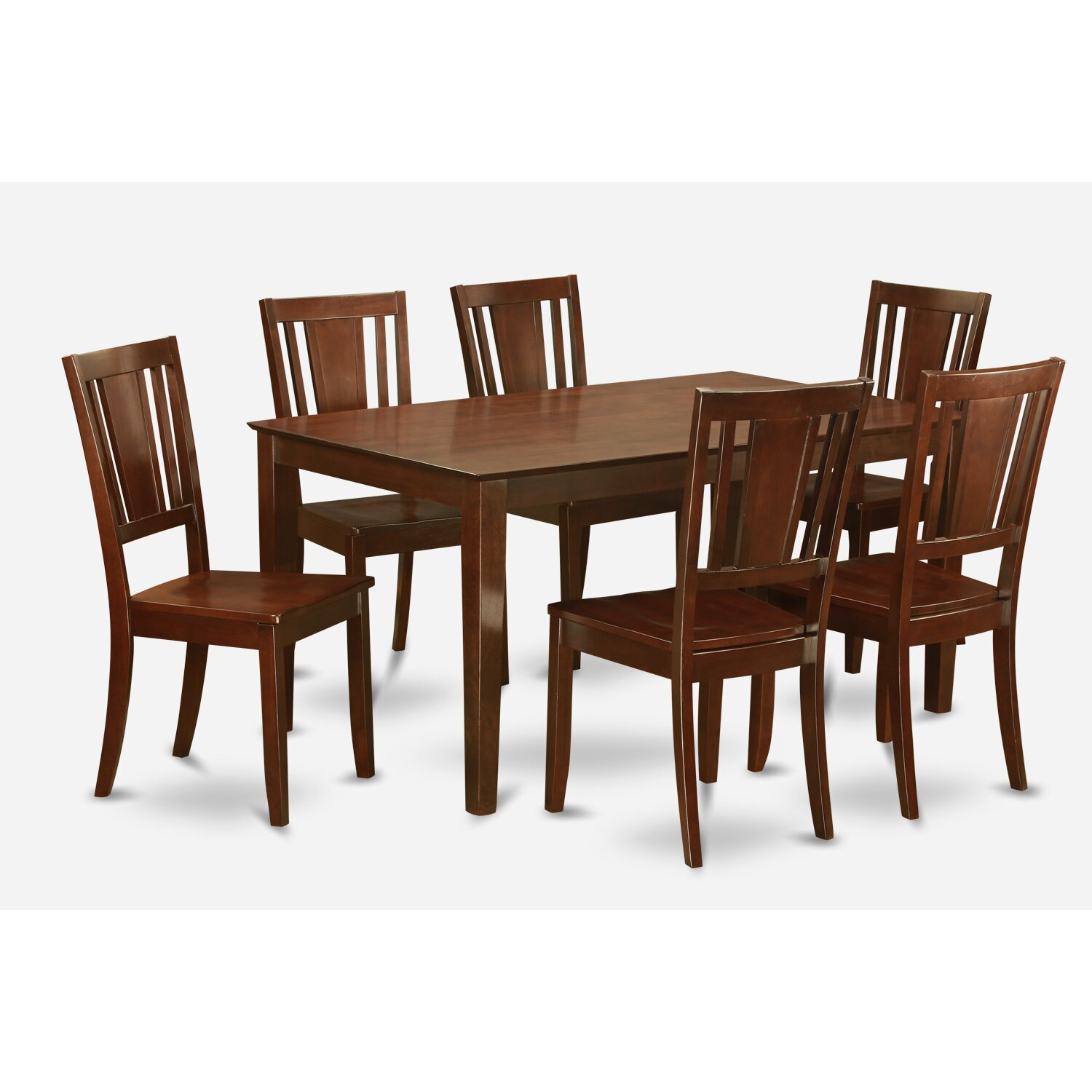 Wooden importers capri 7 piece dining set wayfair for Fancy dining table and chairs