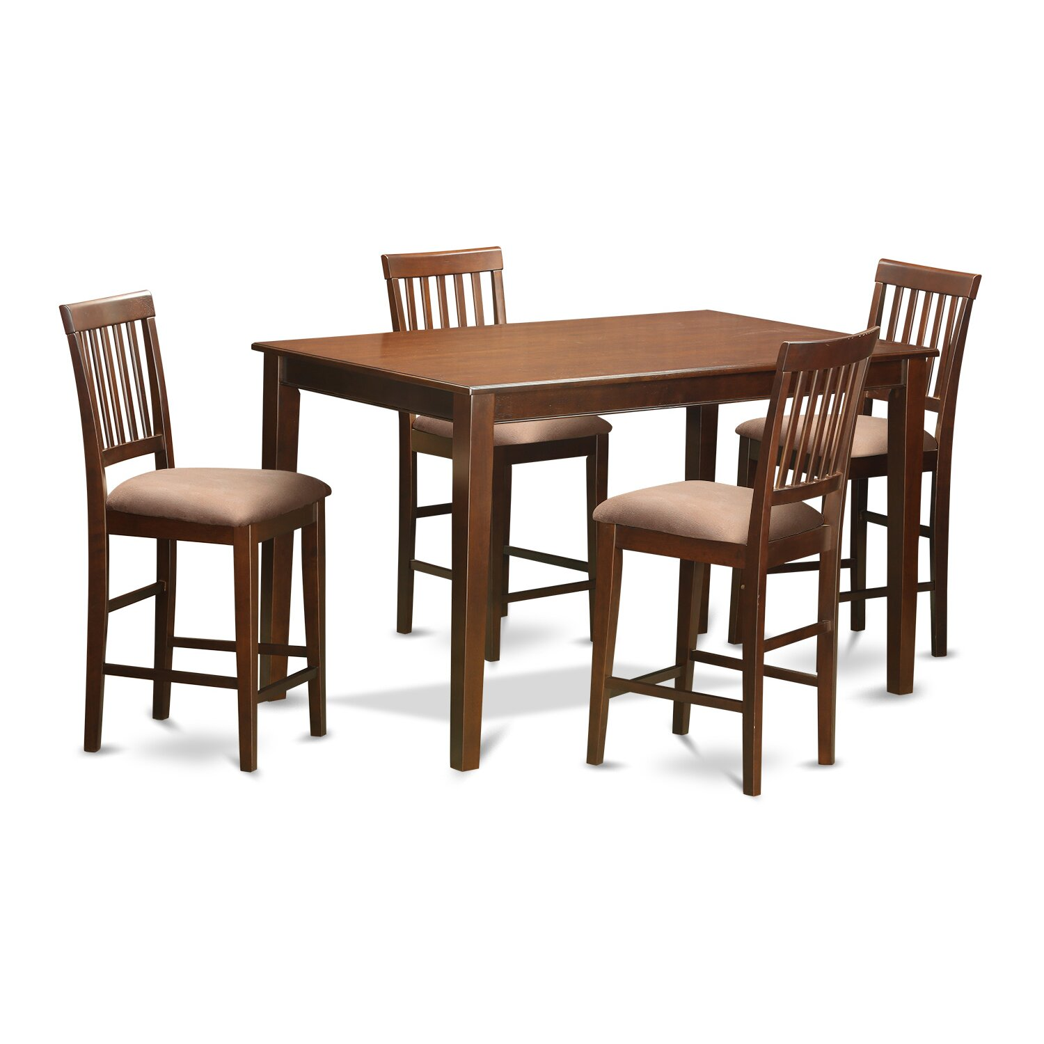 Wooden importers 5 piece counter height dining set wayfair for 4 piece dining table set