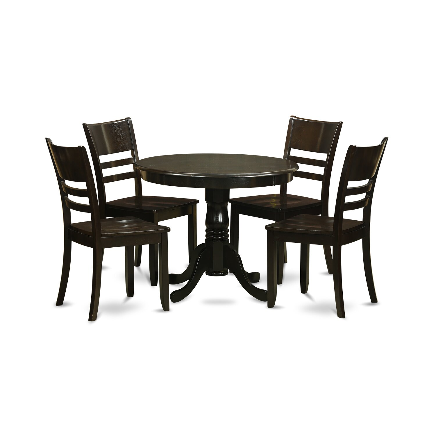 Wooden importers 5 piece dining set wayfair for 5 piece dining room set with bench