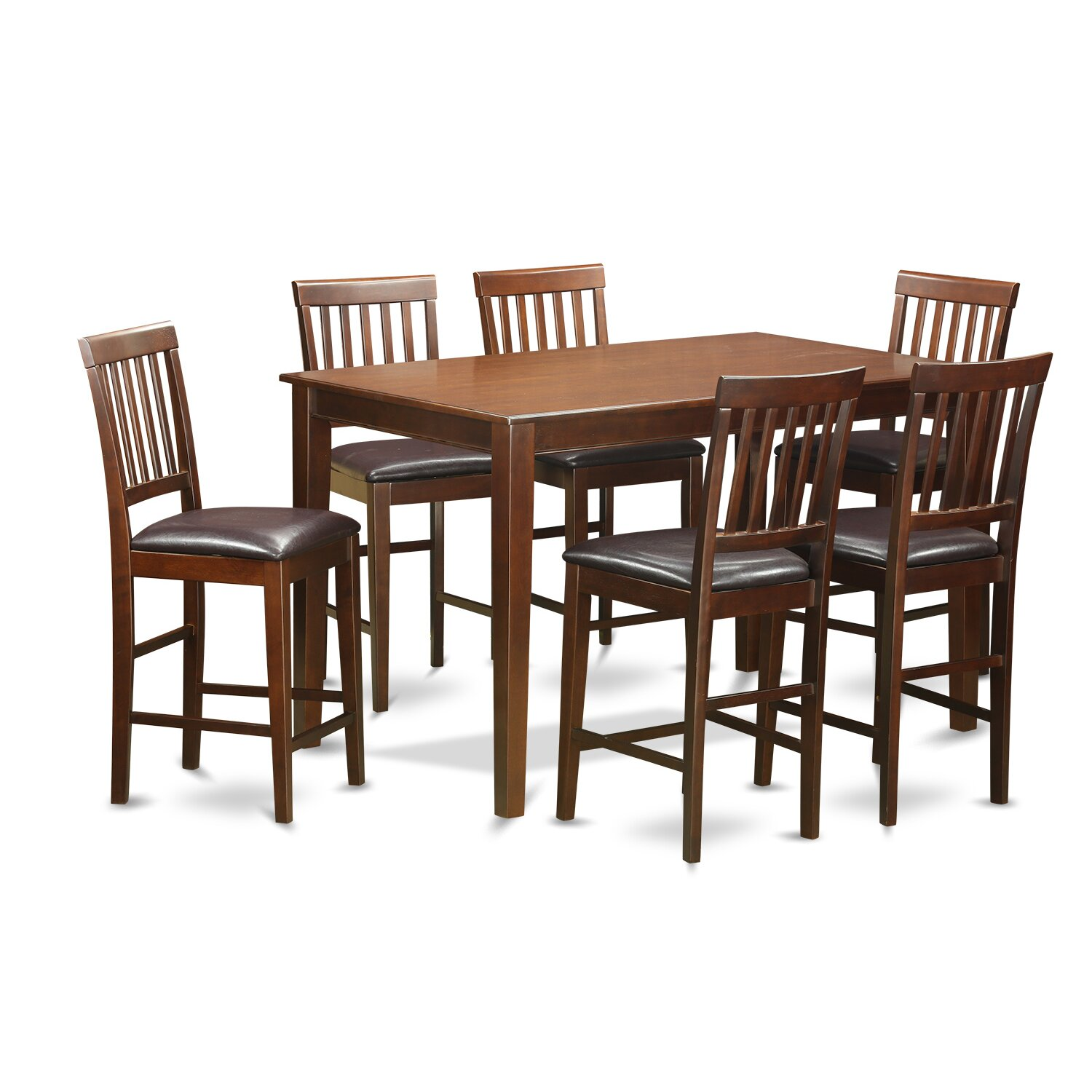 7 Piece Counter Height Dining Room Sets: Wooden Importers 7 Piece Counter Height Dining Set