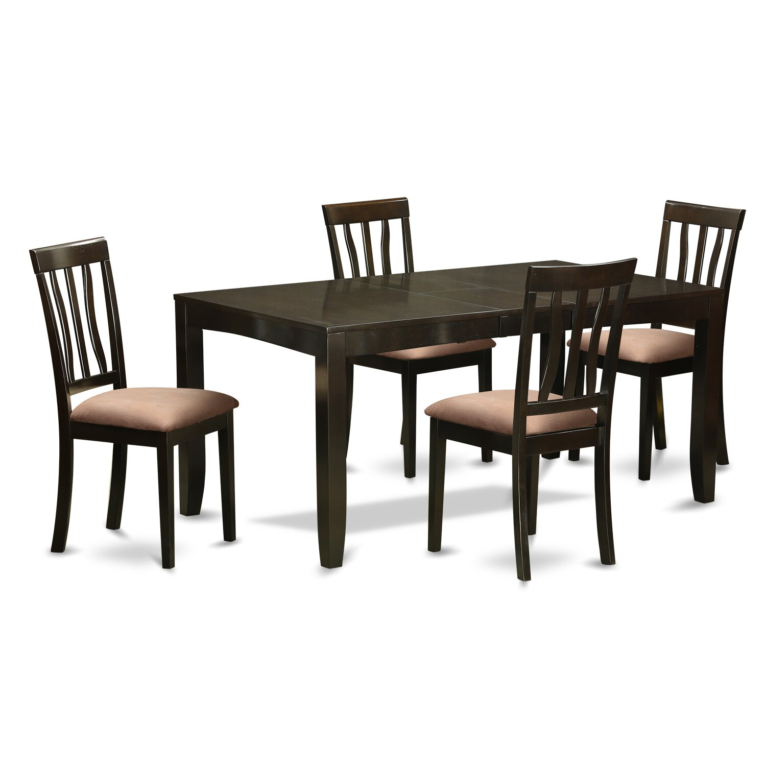 Wooden importers lynfield 5 piece dining set wayfair for Four chair dining table set