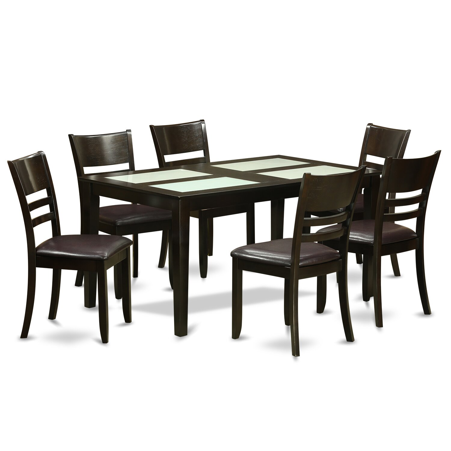 Wooden importers capri 7 piece dining set wayfair for Kitchen table set 6 chairs