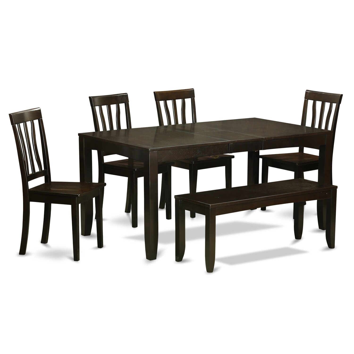 Wooden importers lynfield 6 piece dining set wayfair for Kitchen table sets with bench