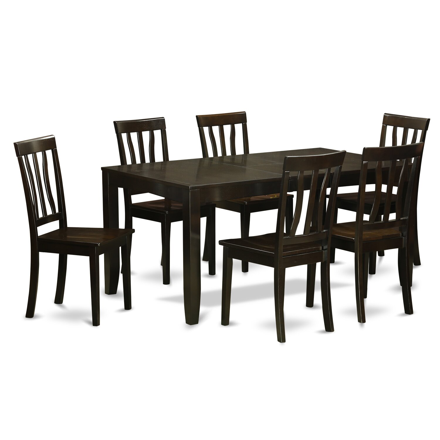 Wooden importers lynfield 7 piece dining set wayfair for Dining room table replacement leaf
