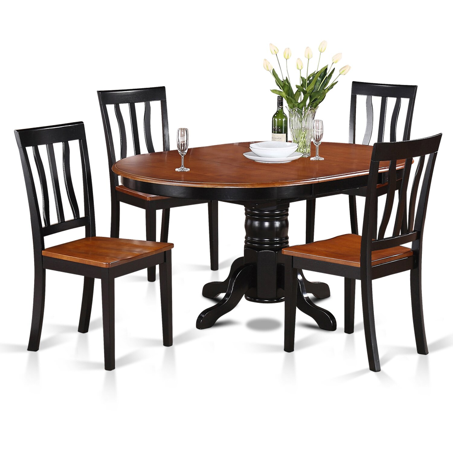 Wooden importers easton 5 piece dining set reviews wayfair for 5 piece dining set