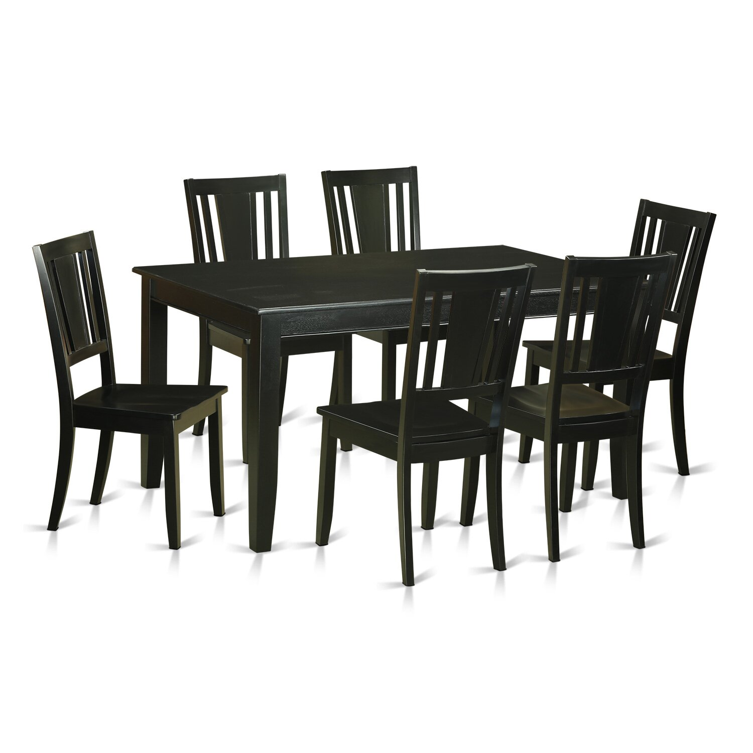 Wooden importers dudley 7 piece dining set reviews wayfair for Kitchen set 7 in 1
