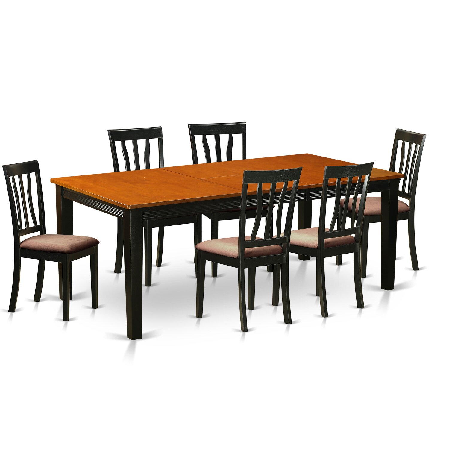 52 Kitchen Tables And Chairs Sets 7 Pc Dining Room: Wooden Importers Quincy 7 Piece Dining Set