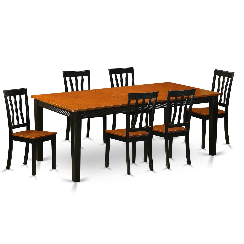 Wooden Importers Lynfield 6 Piece Dining Set: Wooden Importers Quincy 7 Piece Dining Set & Reviews