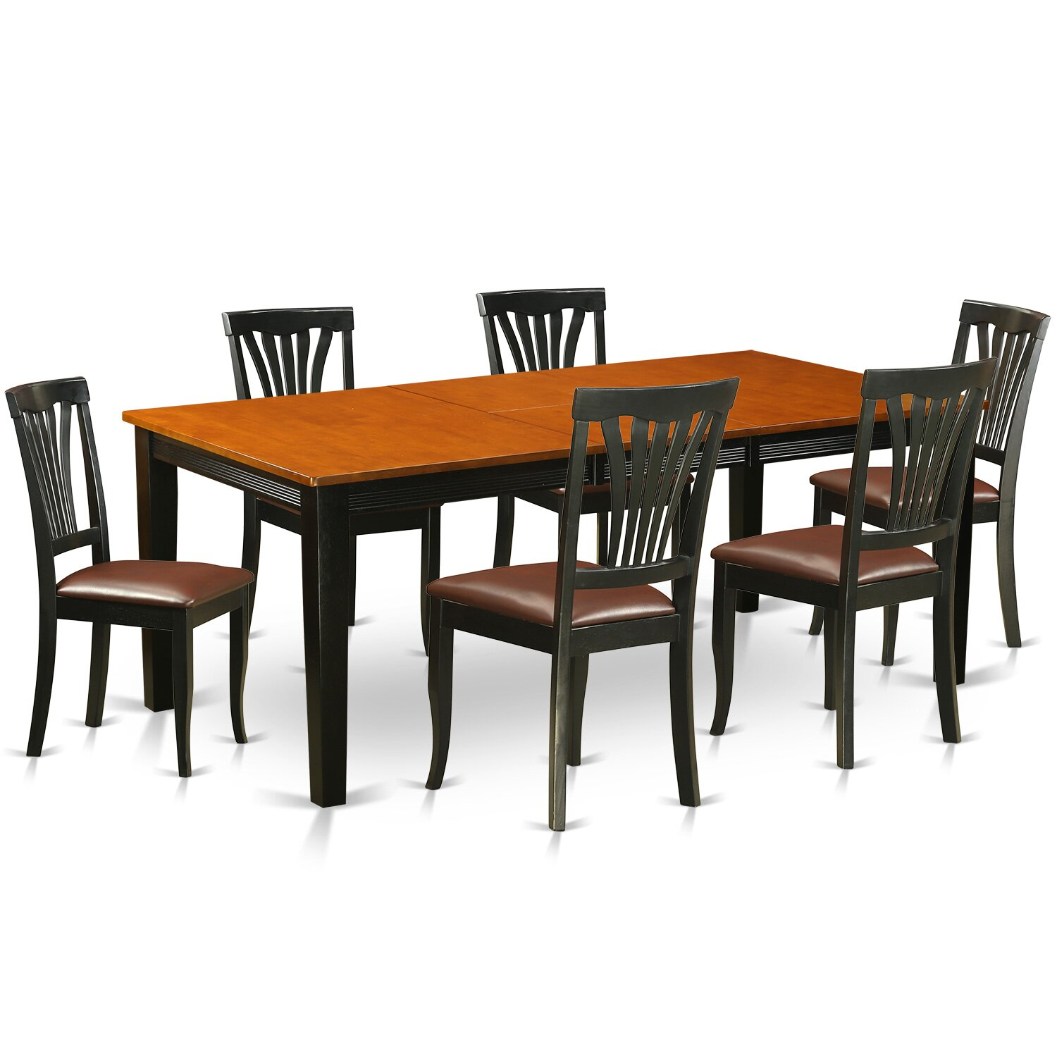 Dining Room Sets Wood: Wooden Importers Quincy 7 Piece Dining Set