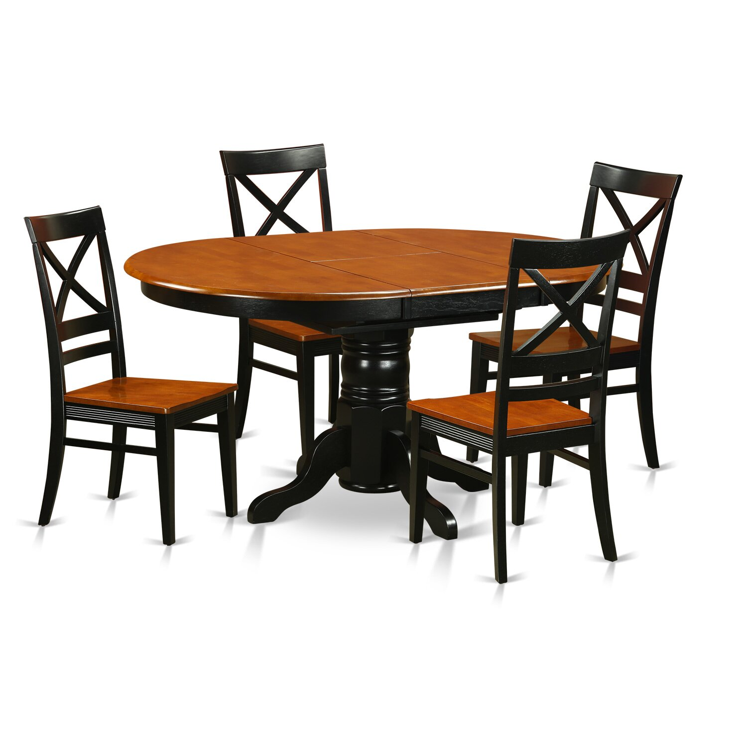 5pc Set Round Dinette Kitchen Table W 4 Microfiber: Wooden Importers Avon 5 Piece Dining Set & Reviews