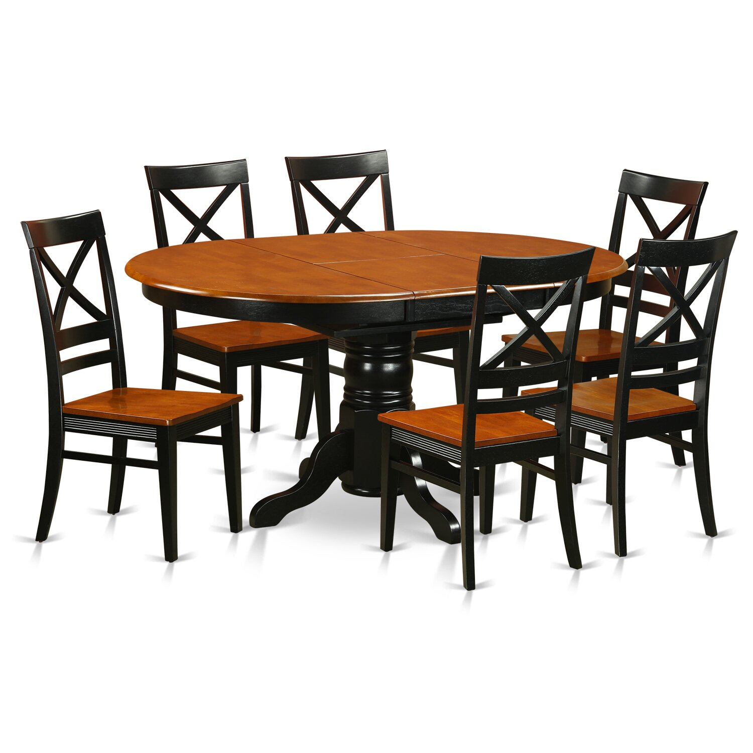 Wooden importers avon 7 piece dining set wayfair for Wood dining room furniture