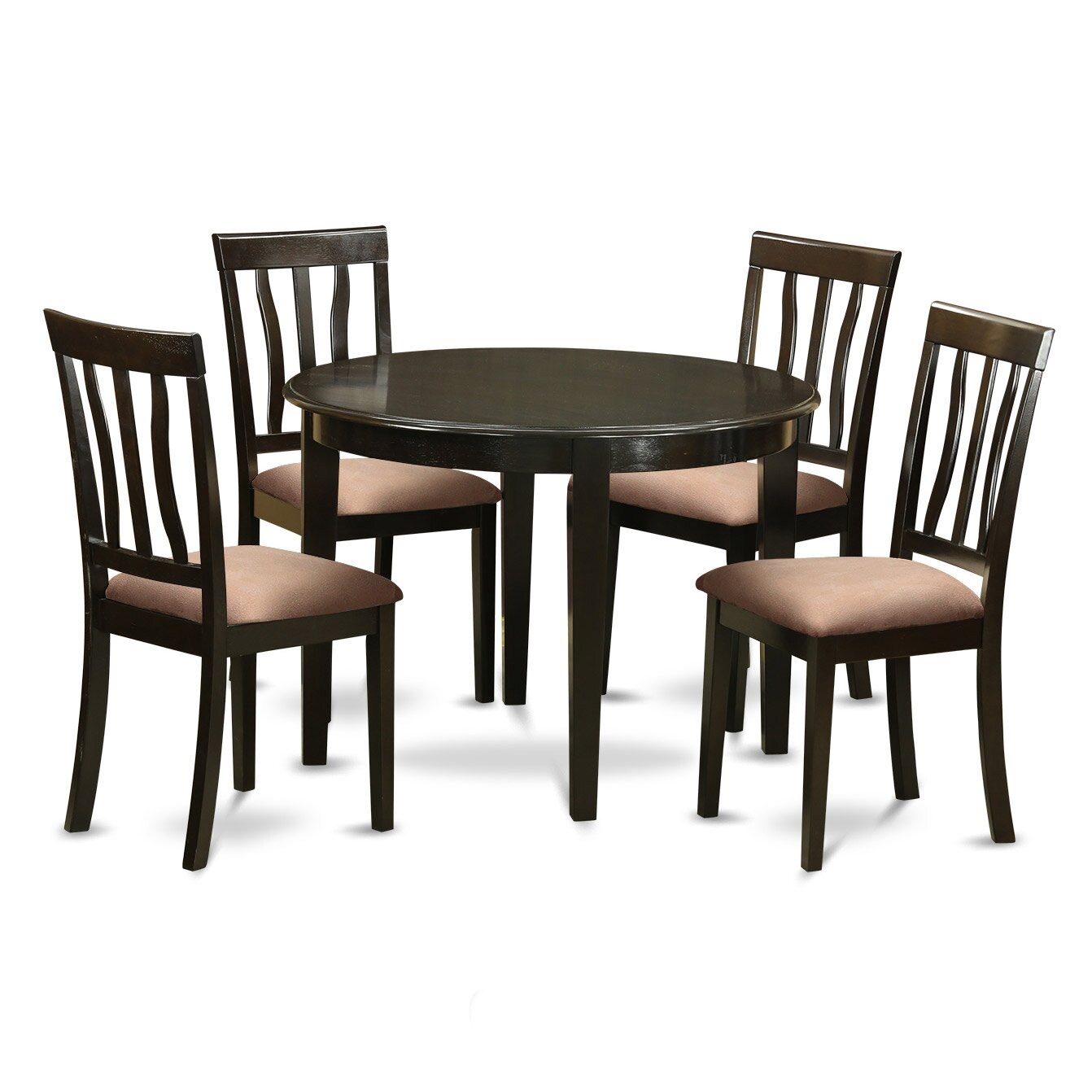 Wooden importers boston 5 piece dining set wayfair for Kitchen table and stools set