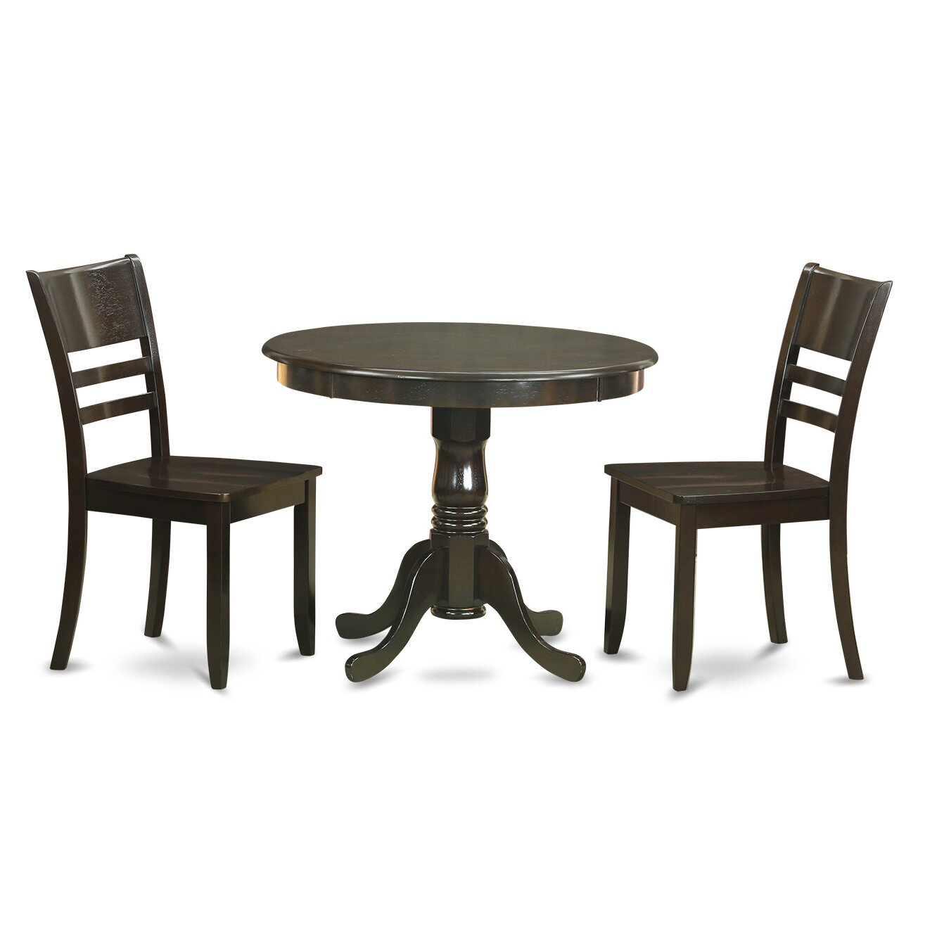 Wooden Importers 3 Piece Dining Set Wayfair