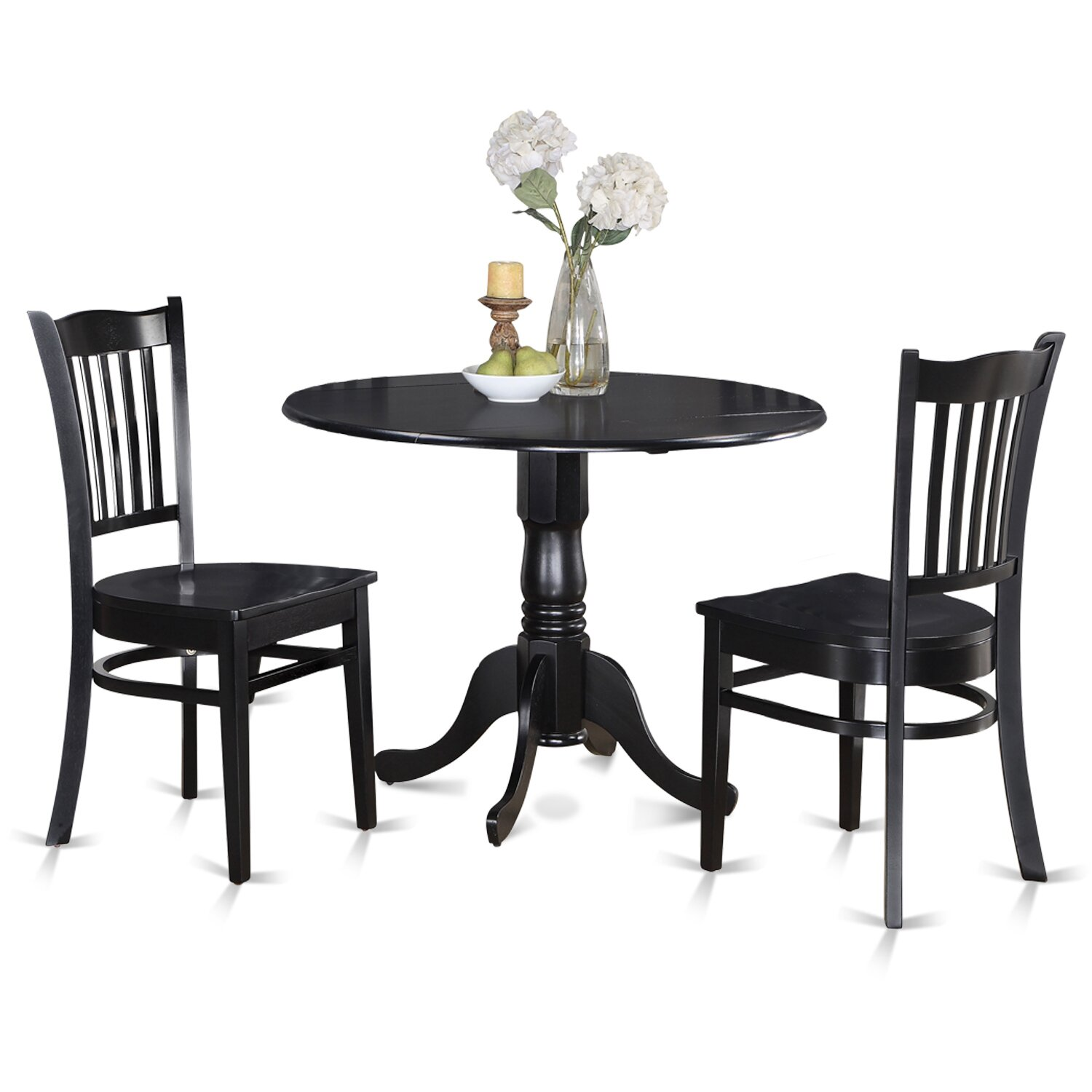 Wooden importers dublin 3 piece dining set reviews wayfair for Small kitchen tables for two