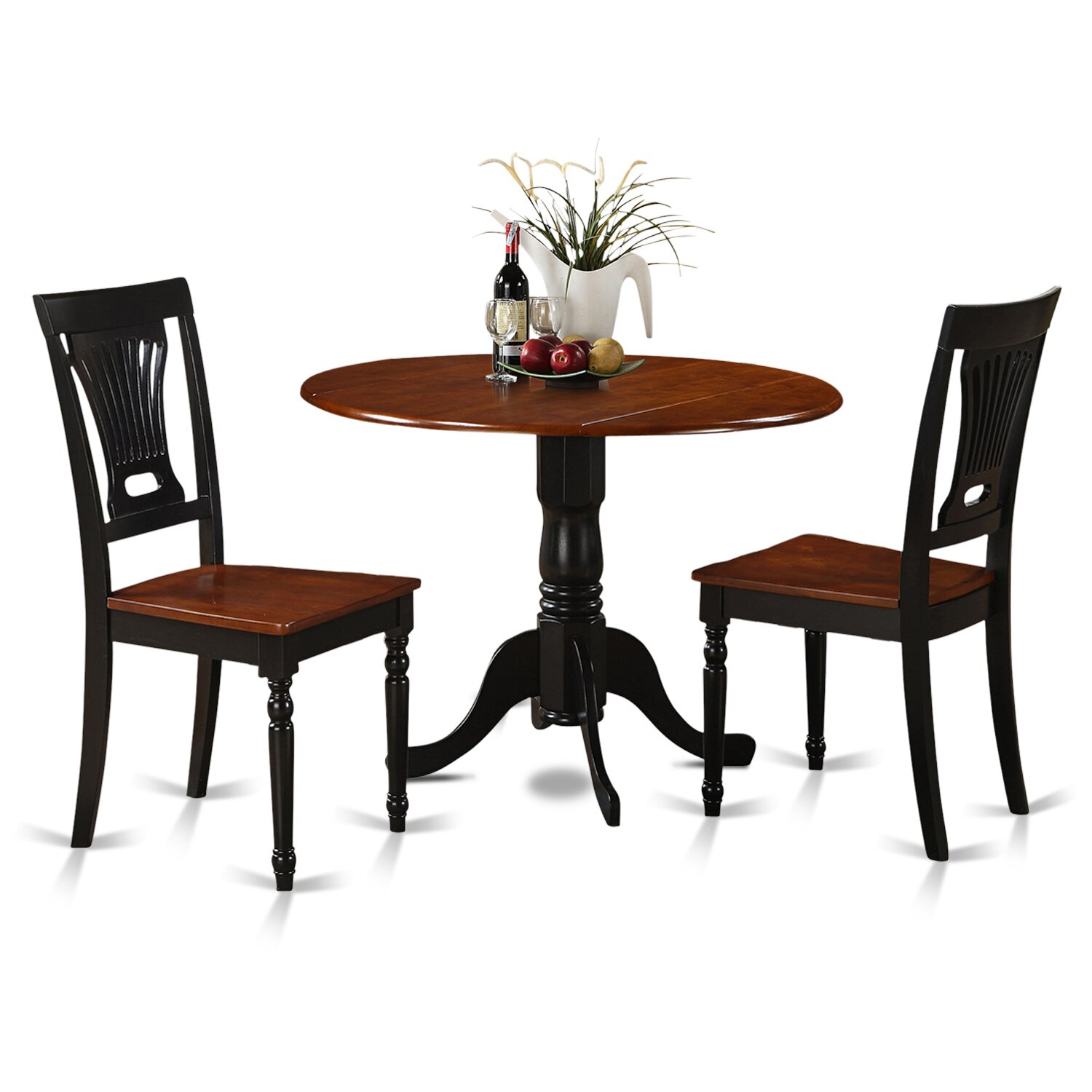 Wooden importers dublin 3 piece dining set reviews wayfair for Small kitchen table and chairs