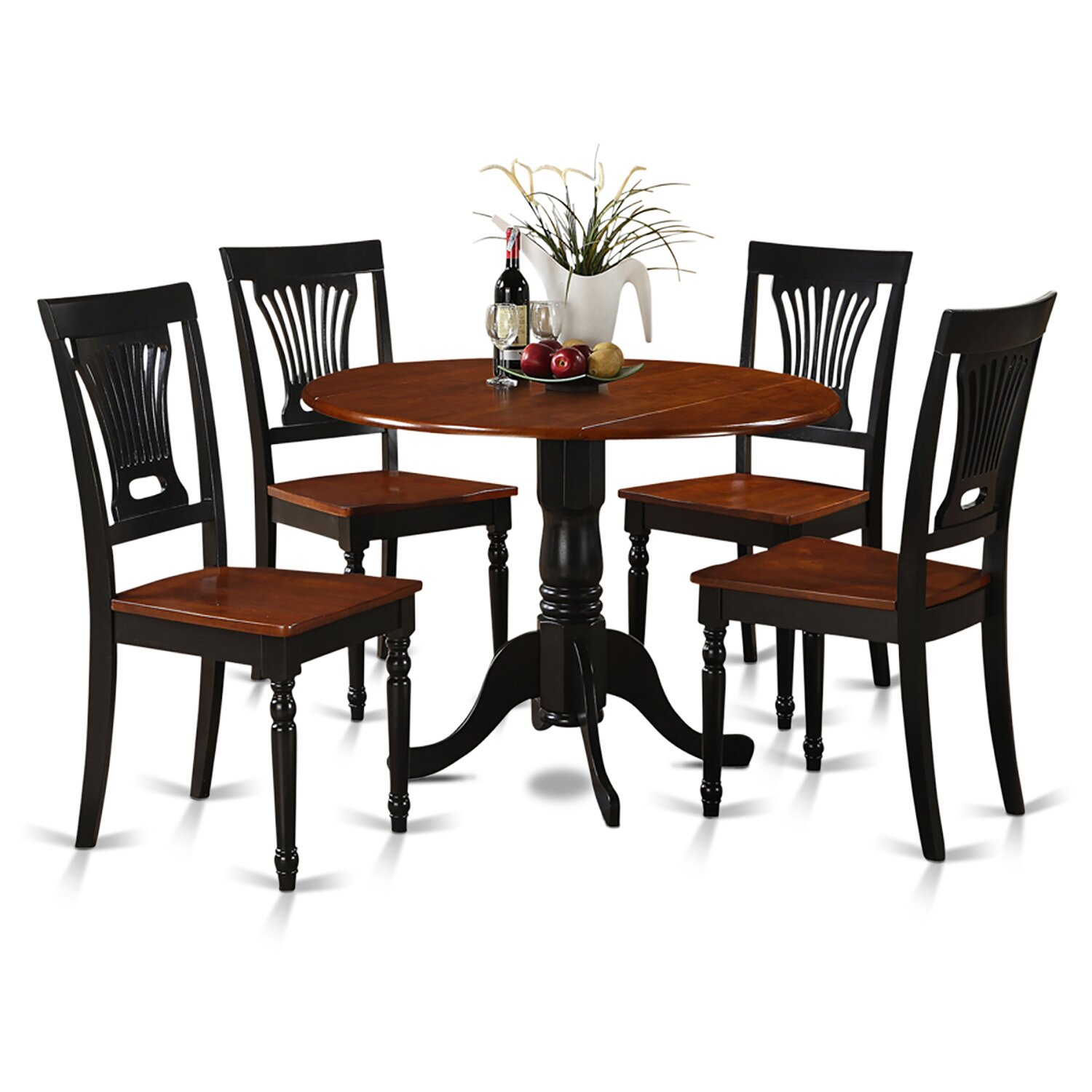 Wooden importers dublin 5 piece dining set reviews wayfair for Small wooden dining table set