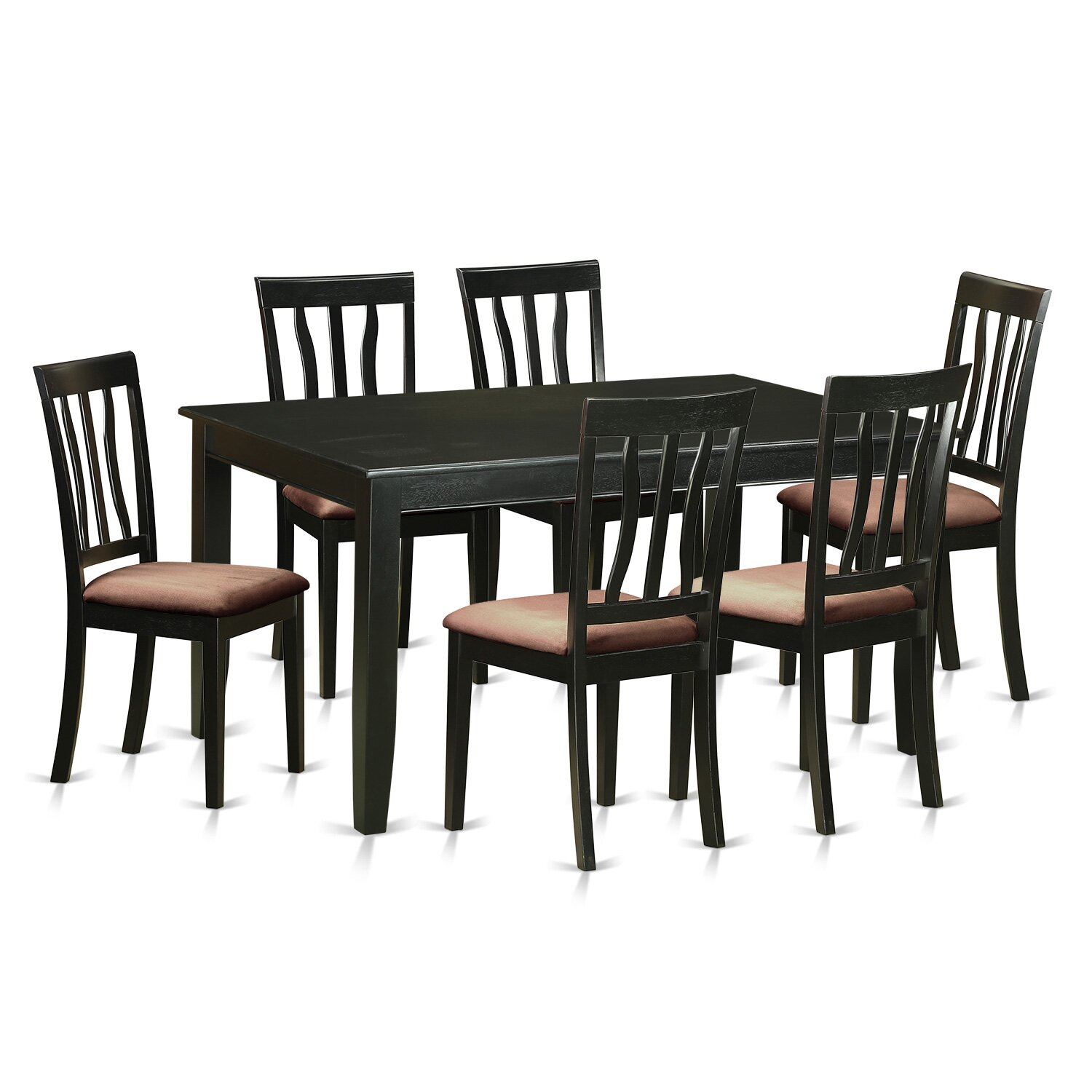 Wooden importers dudley 7 piece dining set wayfair for Kitchen table set 6 chairs