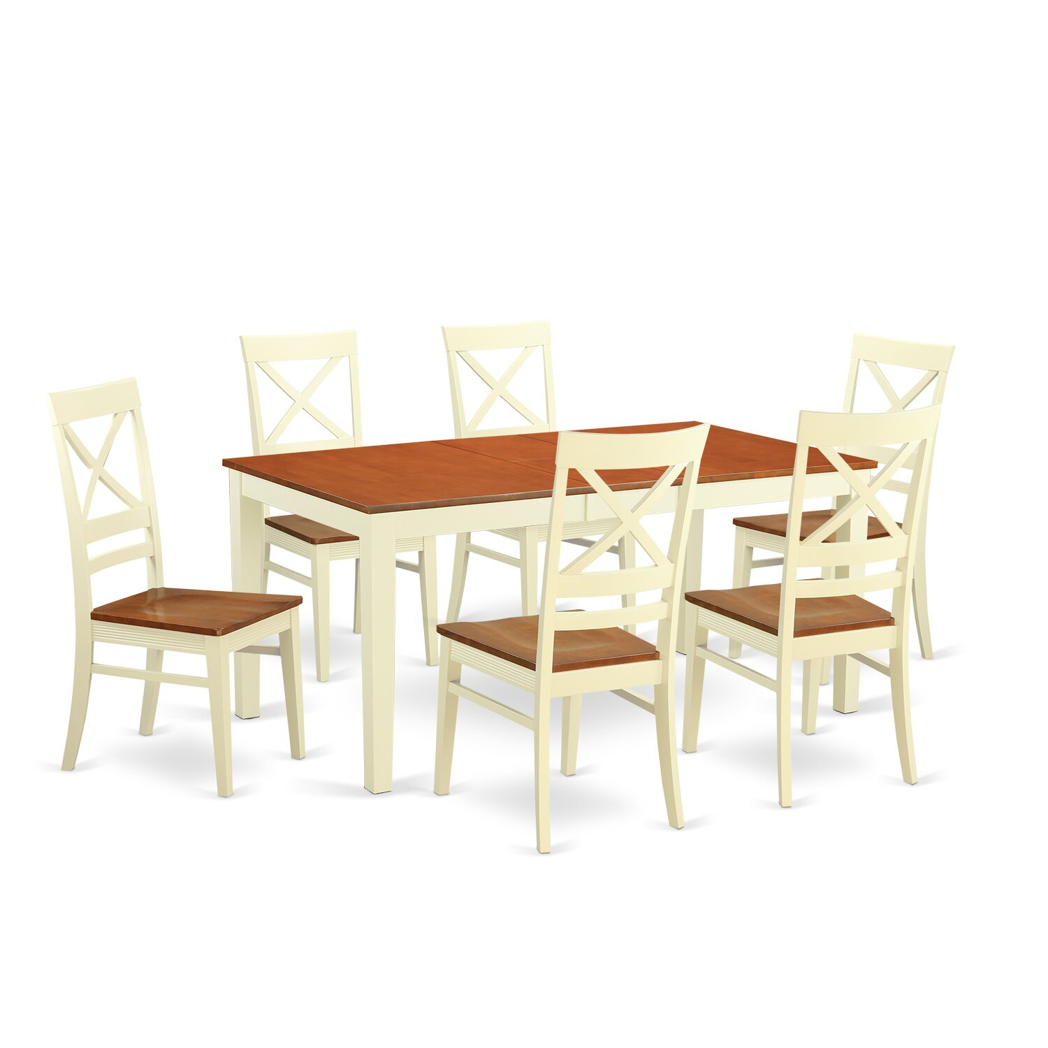 Wooden importers napoli 7 piece dining set wayfair for Kitchen table set 7 piece