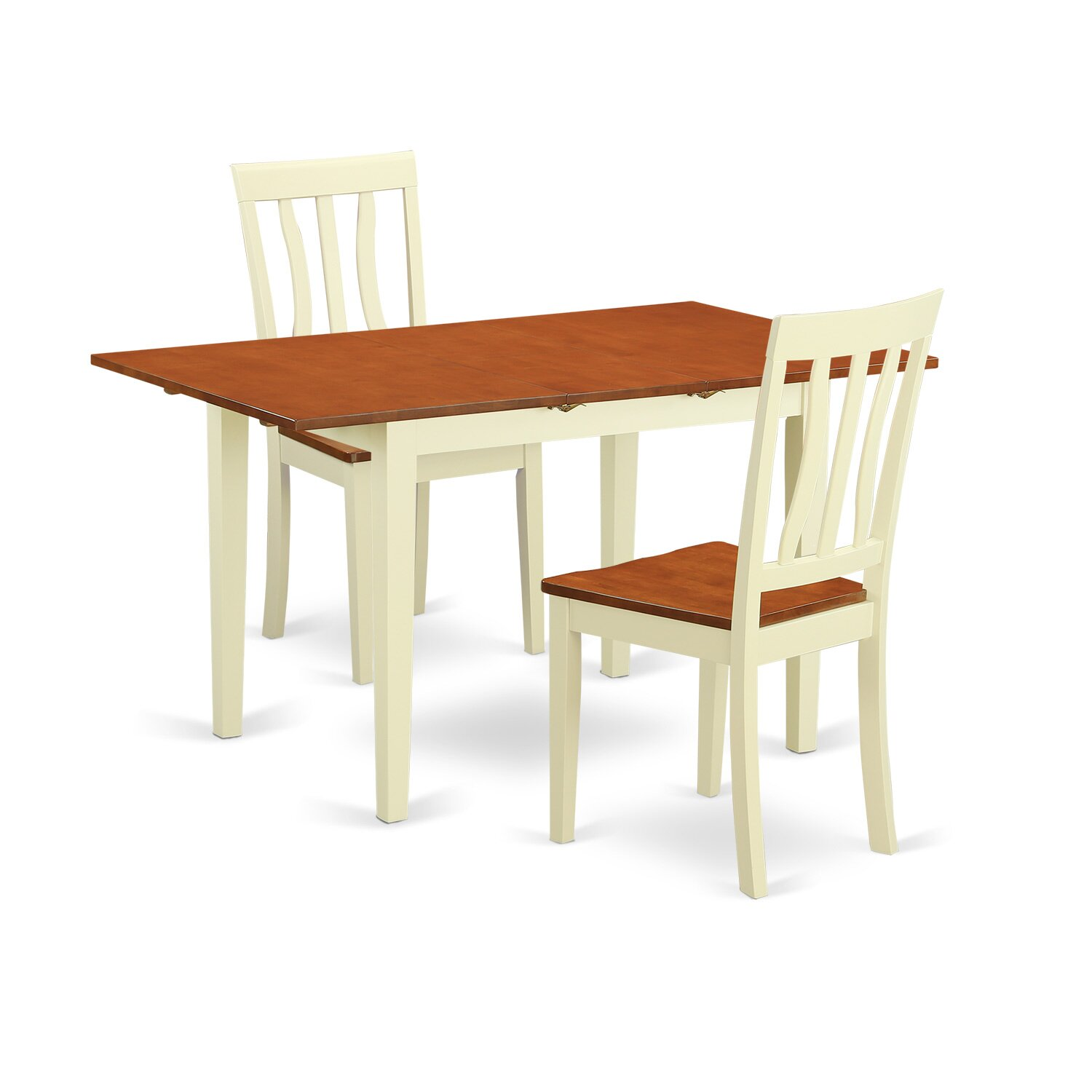 Wooden importers 3 piece dining set reviews wayfair for Dining room table for 2