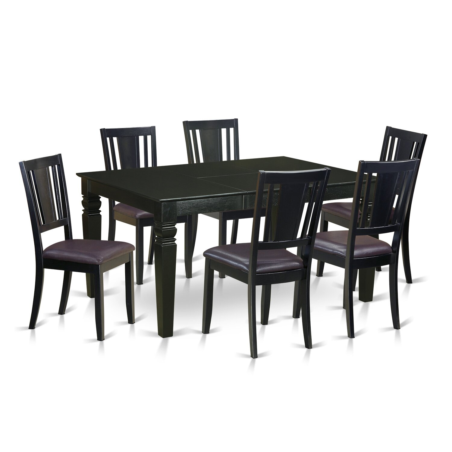 wooden importers weston 7 piece dining set wayfair. Black Bedroom Furniture Sets. Home Design Ideas
