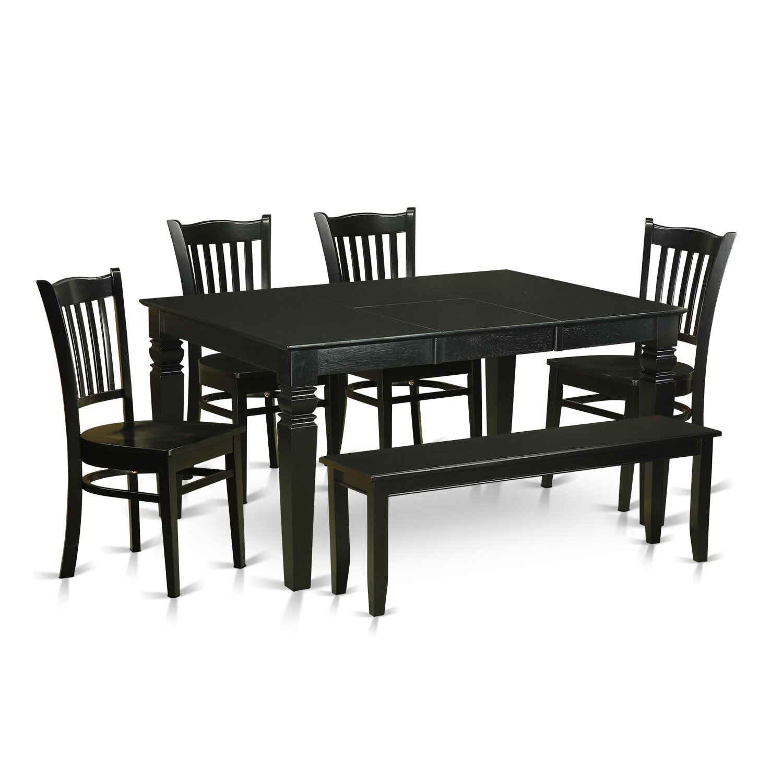 Wooden Importers Lynfield 6 Piece Dining Set: Wooden Importers Weston 6 Piece Dining Set & Reviews