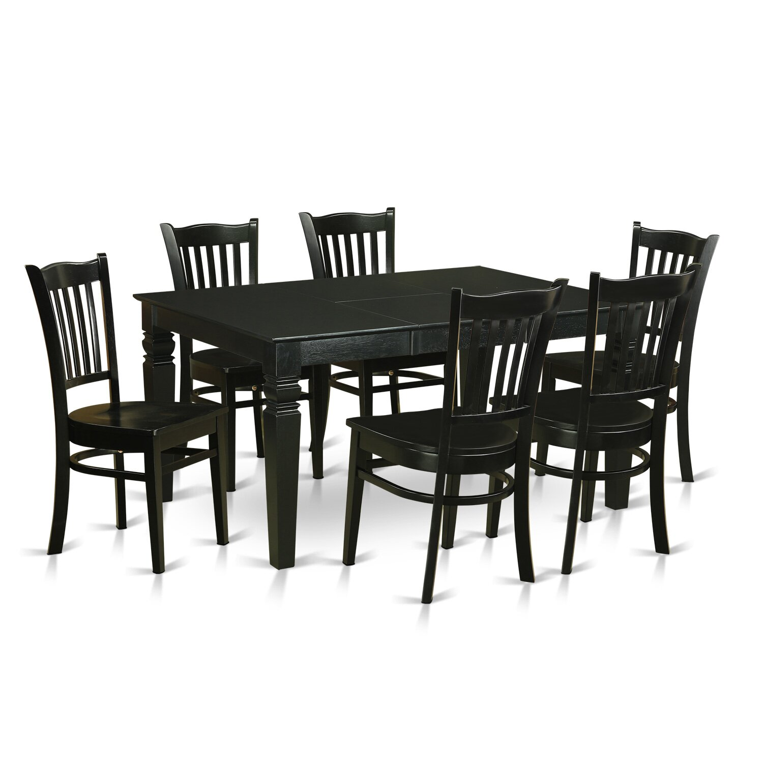 Wooden importers weston 7 piece dining set wayfair for Dining room sets 6 piece