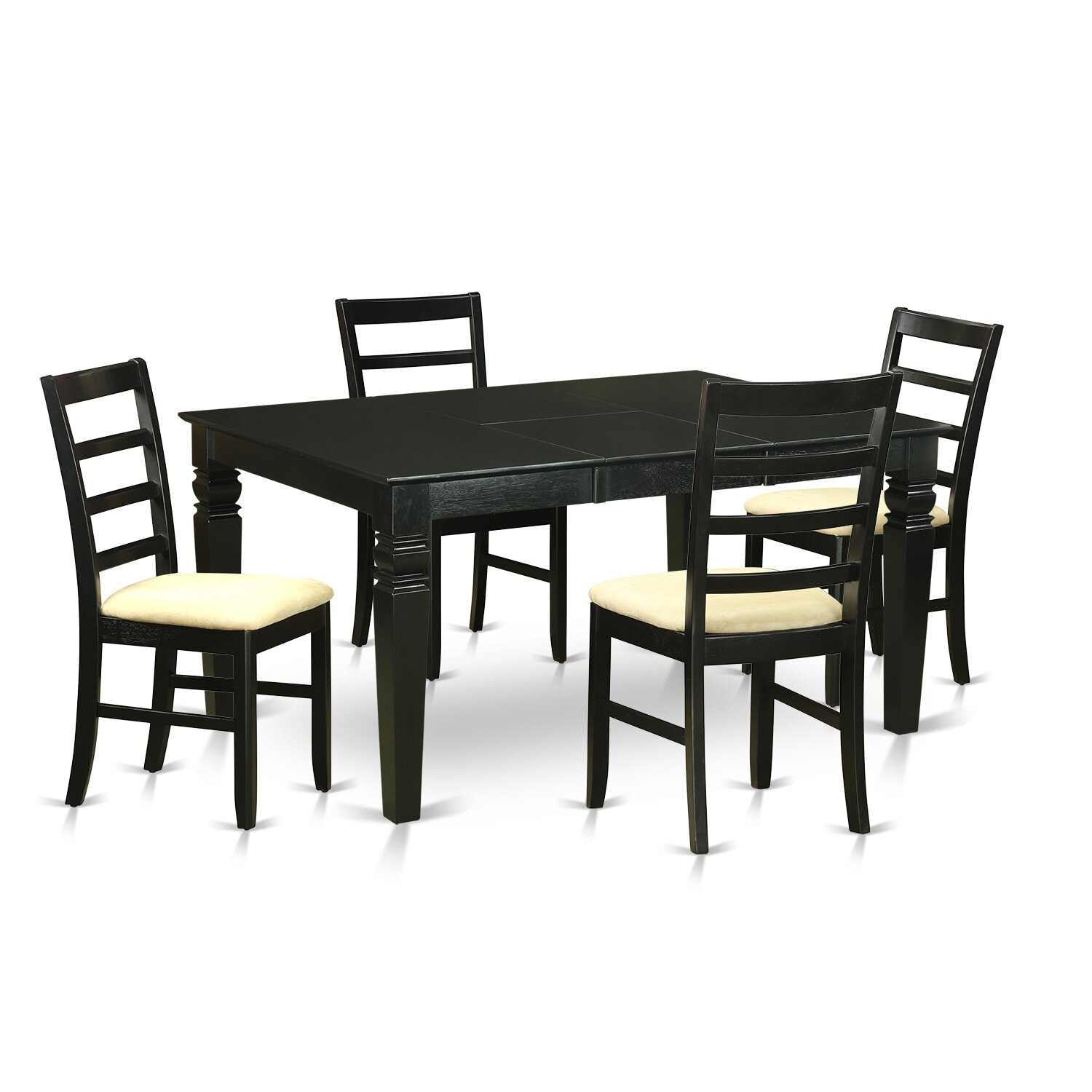 Wooden importers weston 5 piece dining set wayfair for Small table and 4 chair set