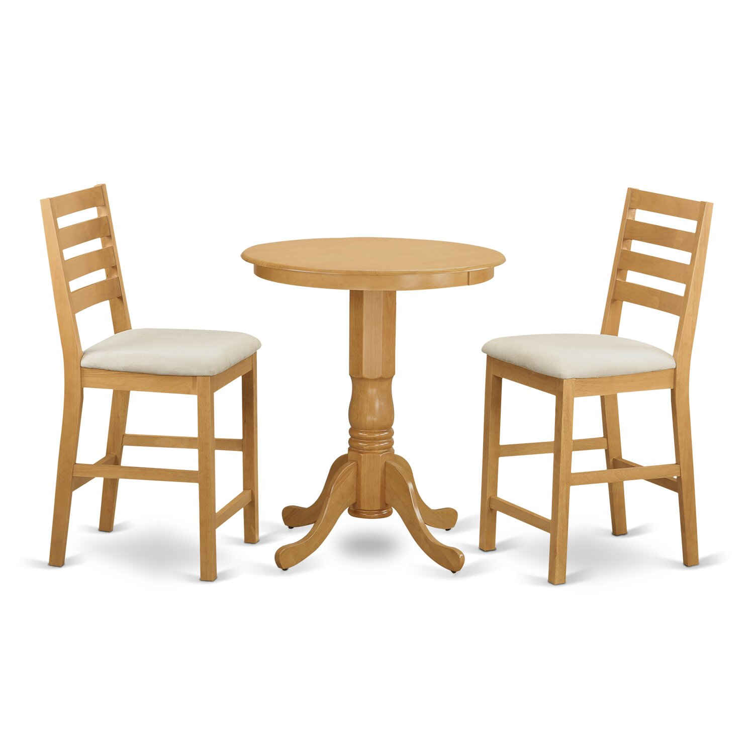 3 Pcs Modern Counter Height Dining Set Table And 2 Chairs: Wooden Importers 3 Piece Counter Height Pub Table Set