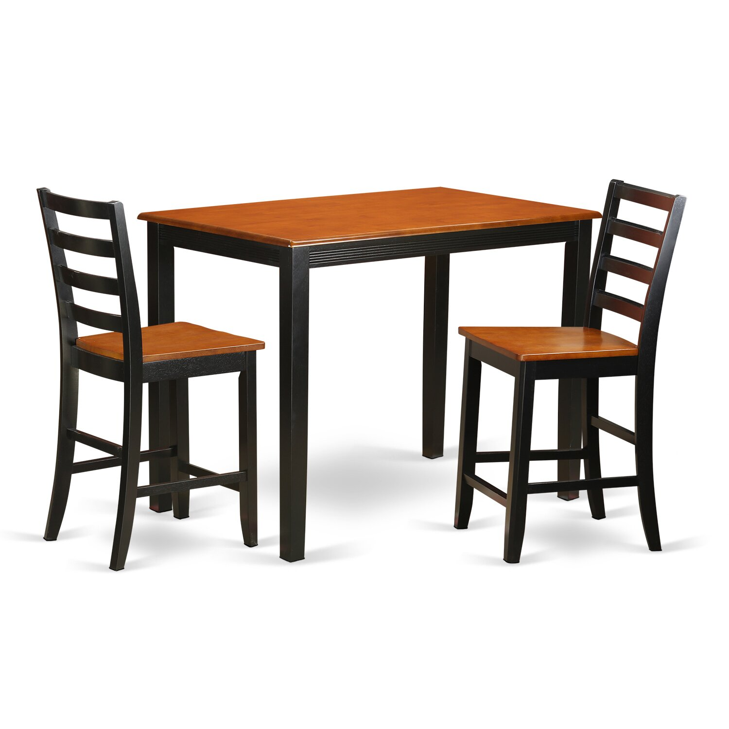Wooden importers yarmouth 3 piece counter height pub table for Kitchen table and stools set
