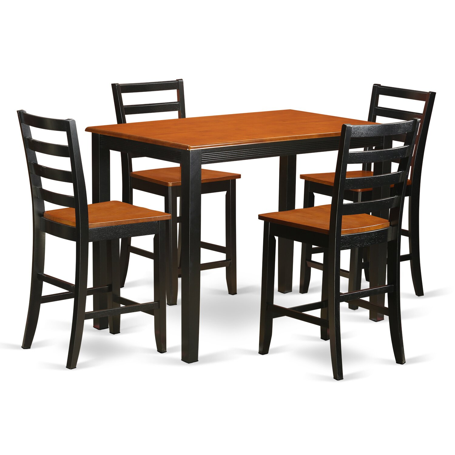 Wooden Importers Yarmouth 5 Piece Counter Height Pub Table Set Wayfair Supply