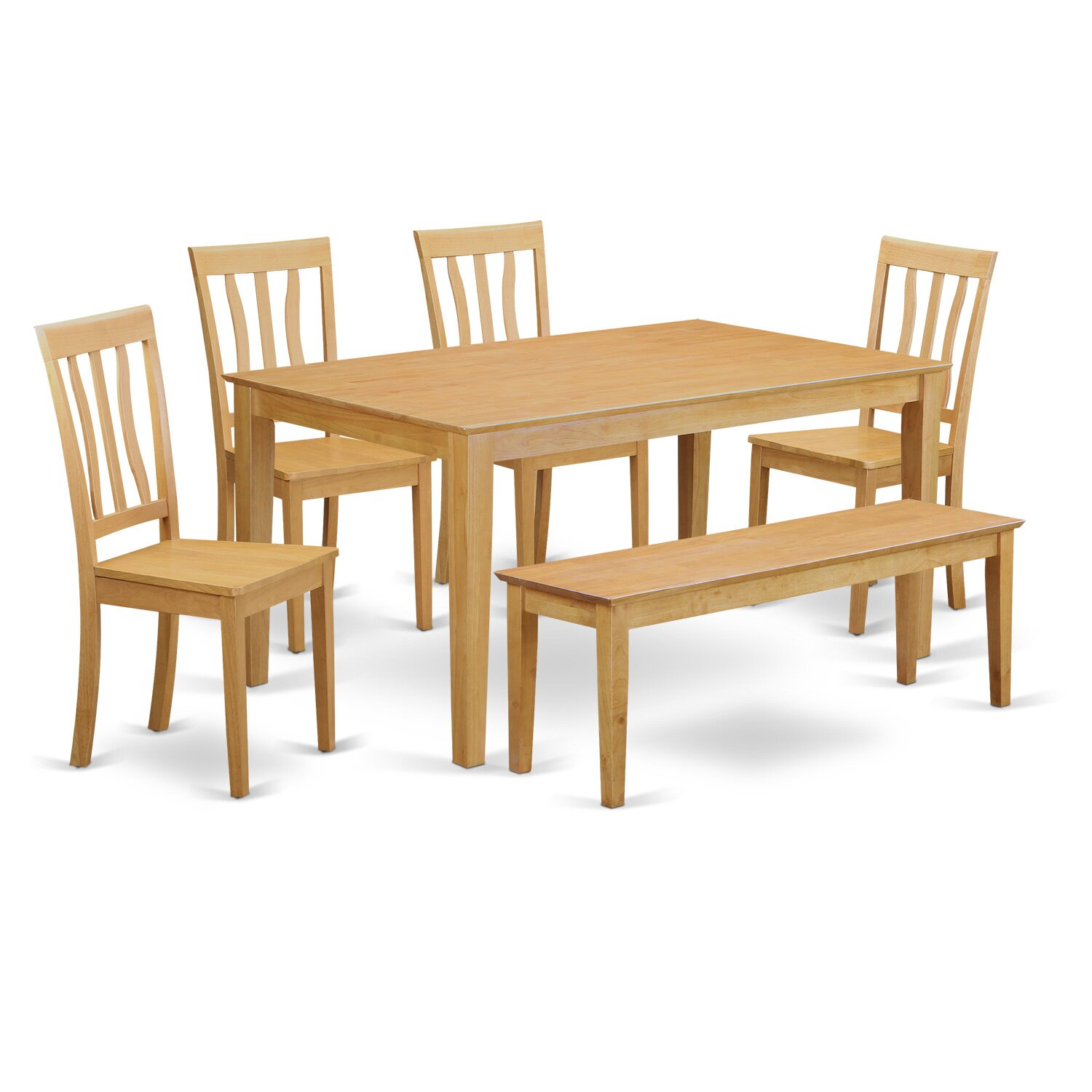 Wooden importers capri 6 piece dining set wayfair for Dining room sets 6 piece