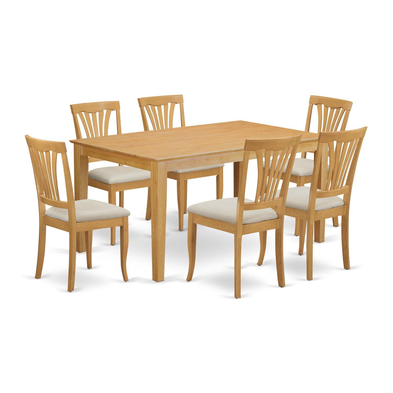 Wooden Importers Avon 7 Piece Dining Set: Wooden Importers Capri 7 Piece Dining Set